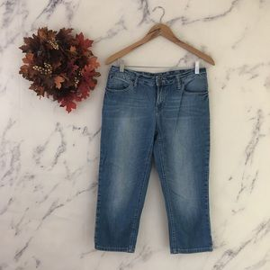 J Jill Skinny Capri Jeans with Stretch.